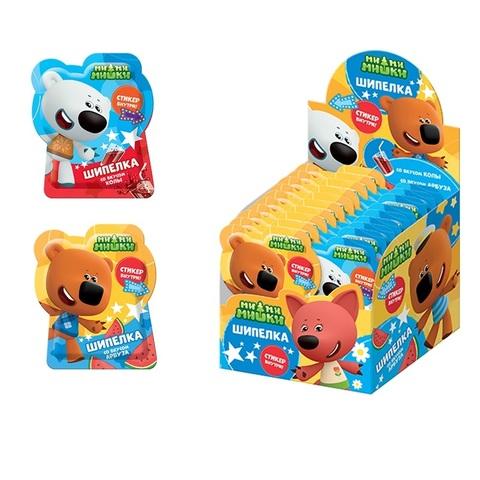 МИ-МИ-МИШКИ  Сладкая шипучка Шипелка в фигурном пакете с подарком 1кор*6бл*40шт, 5г.