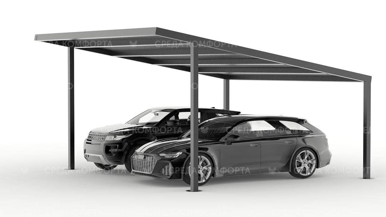 Навес для авто из металла (устойчив к УФ излучению) AVNVS0040