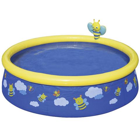 Надувной бассейн Bestway 57326 Пчелки (152x38 см) с разбрызгивателем / 25322