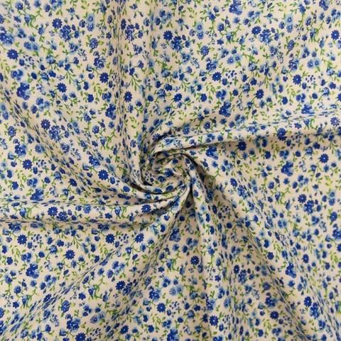 Бязь плательная 150 см 1444/3 Мильфлер цвет синий