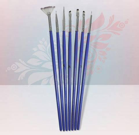 Rio Profi Набор кистей для дизайна 7 шт (фиолетовый)