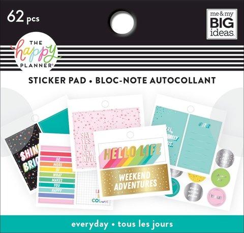 Блокнот со стикерами для ежедневника Happy Planner -Tiny Stickers Pad - Oh Happy Everyday- 62 шт
