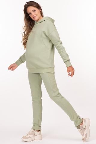 Утепленный спортивный костюм для беременных и кормящих 11885 зеленый