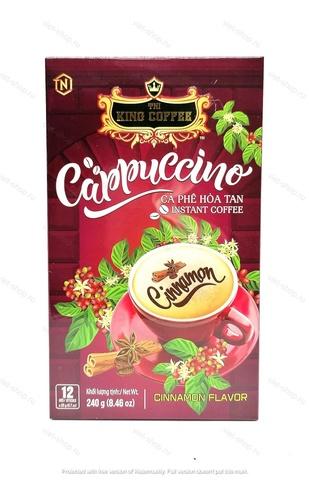 Вьетнамский растворимы кофе Капучино Корица, King Coffee, 12 стиков.