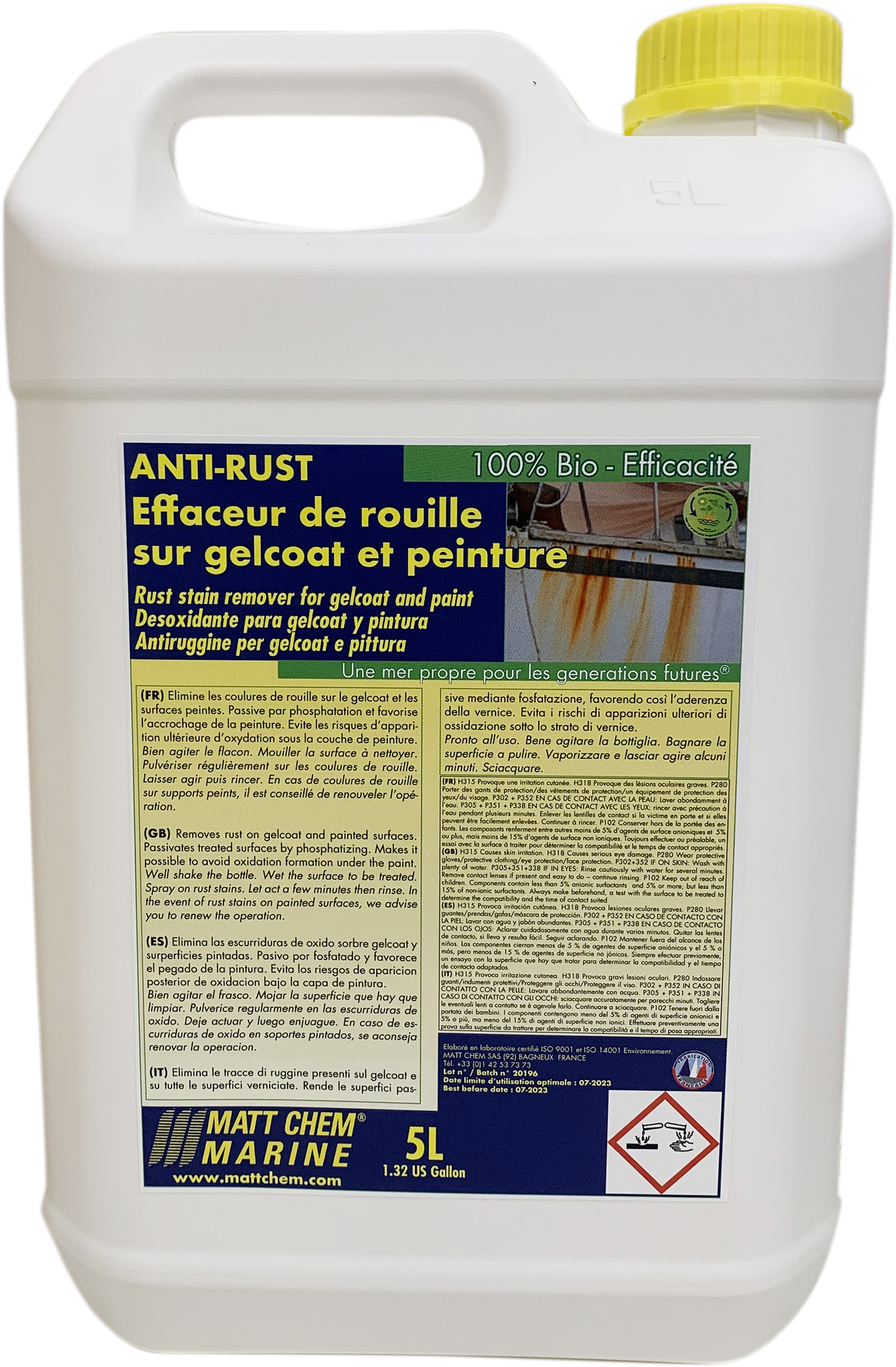 Rust stains remover for gelcoat and paint Anti-rust