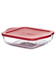Квадратная форма для запекания с крышкой 1,95 литра Borcam 59034 жаропрочная стеклянная форма для СВЧ 22х22х6 см