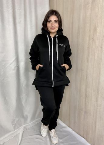 Нора. Теплий костюм з трьохнитки великих розмірів. Чорний