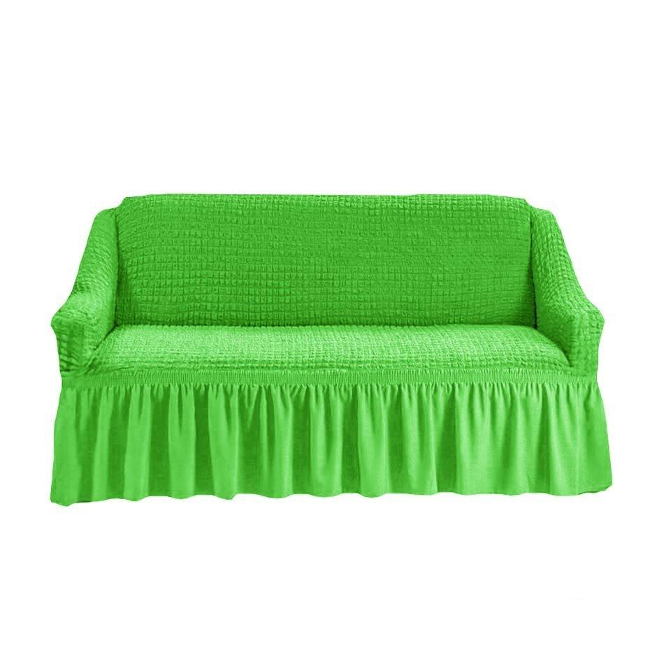 Чехол на двухместный диван, салатовый