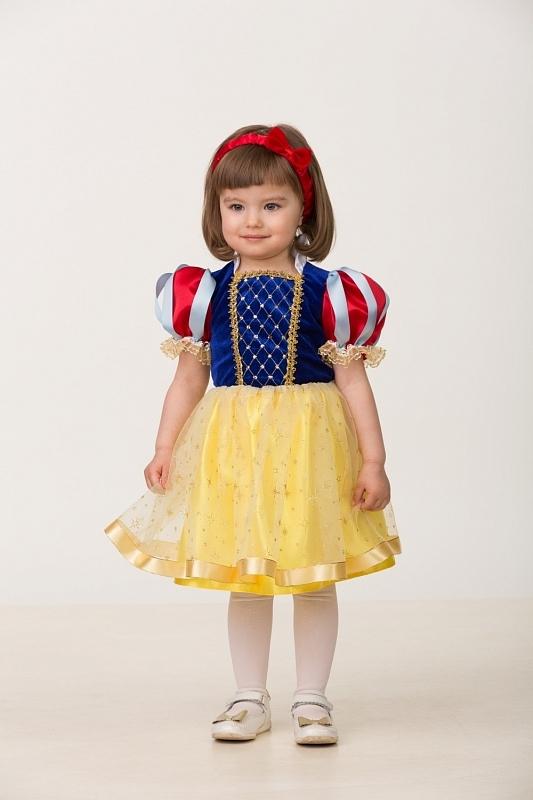 Карнавальный костюм Принцесса Белоснежка малышка (текстиль)