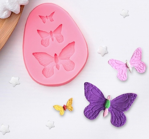 0284 Молд Три бабочки