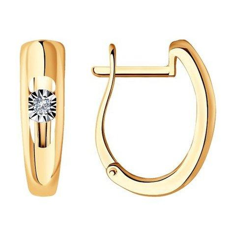 1021473 - Серьги из комбинированного золота с бриллиантами