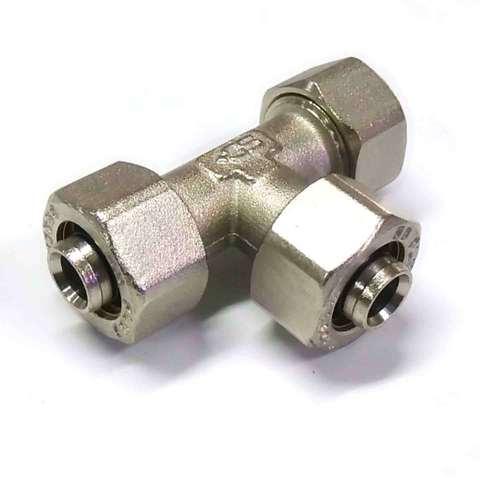 Тройник обжимной для металлопластиковых труб 16 мм SD Plus