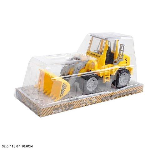 Трактор инерционный, с грейдером, 27 см. (под пластиком), 661-26С