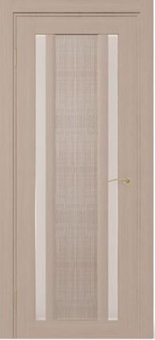 Дверь Zadoor Римини джута, цвет беленый дуб, остекленная
