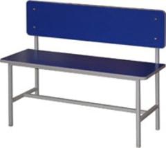 Скамья для раздевалок 1-сторонняя со спинкой
