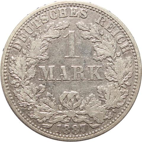 1 марка 1887 (A) Германия F-VF