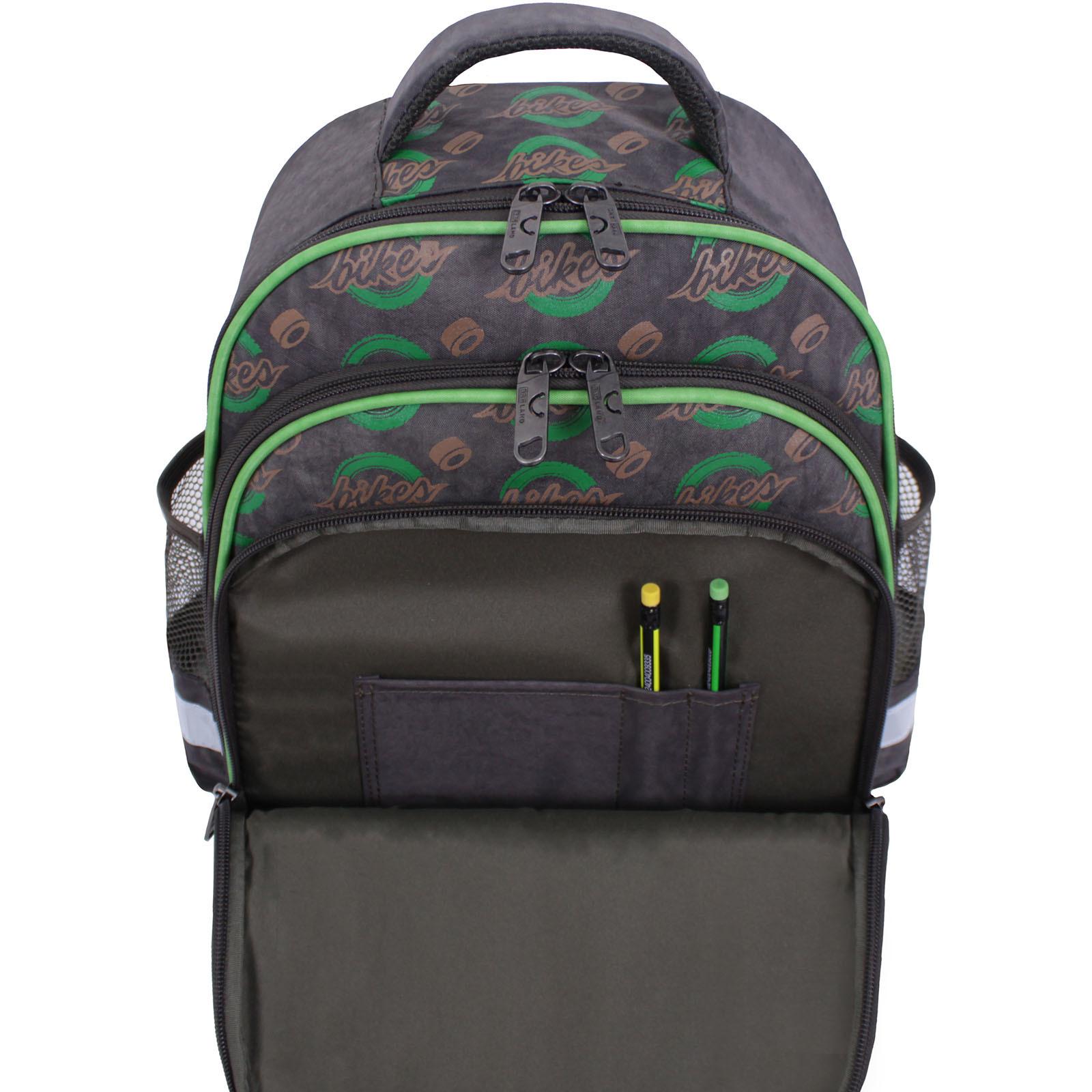 Рюкзак школьный Bagland Mouse 327 хаки 270к (0051370) фото 6