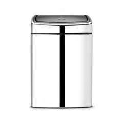 Мусорный бак Brabantia Touch Bin прямоугольный (10л), Полированная сталь