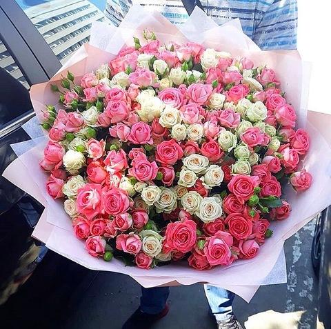 51 кустовая роза 70 см #28333