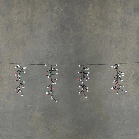Гирлянда гроздья ягод мультиколор, 8F, таймер на отключение 6/18, для наружного и внутреннего использования