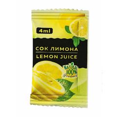Приправа Лимонный сок порционный Фабрикант, 100пакx4мл