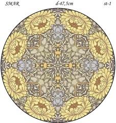 Эскиз для росписи, Круг диаметр-47,5см, SMAR-st-16