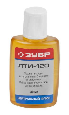 Флюс ЗУБР ЛТИ-120, пластиковый флакон, 30мл