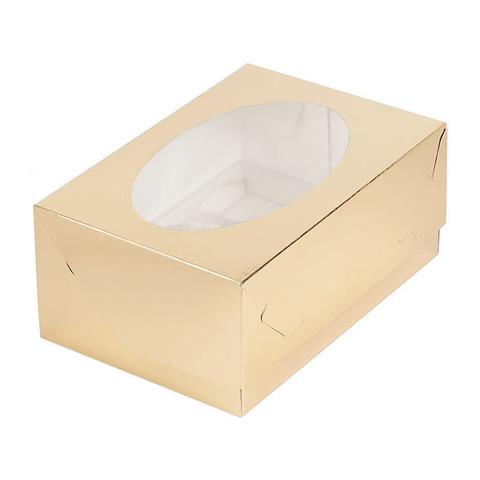 Коробка для 6 капкейков(золото)