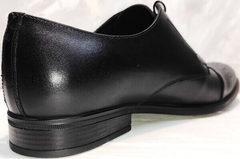Кожаные мужские туфли под костюм Ikoc 2249-1 Black Leather.