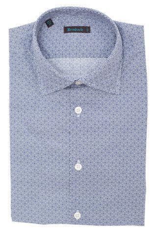Белая рубашка с мелким геометрическим рисунком
