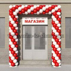 арка из шаров на дверь