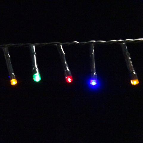 Гирлянда Мультиколор Б/О, 368 ламп, 2760 см, таймер на отключения 6/18 для наружного и внутреннего использования