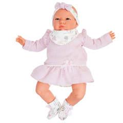 Munecas Antonio Juan Кукла Анна в розовом, озвученная (детский лепет), 52 см (1957)