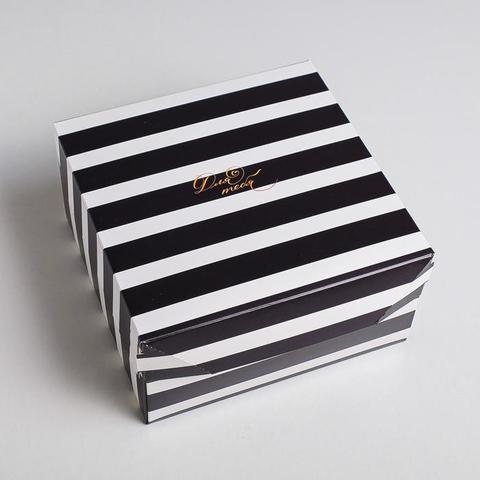 Коробка из картона «Монохром», 17  9  17 см