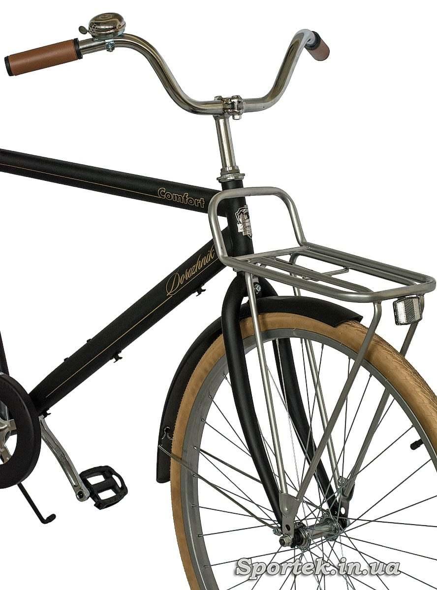Руль, вилка, переднее колесо городского мужского велосипеда Dorozhnik Comfort Male 2016 (Дорожник комфорт)