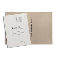 Папка-скоросшиватель Дело № картонная А4 до 200 листов 220 г/кв.м (20 штук в упаковке)