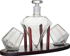 Набор для виски на подставке декантер «Бриллиант», 1000 мл/200 мл, фото 2