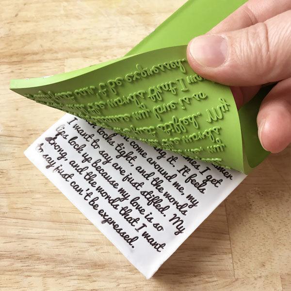 Текстурный лист для мыла Письмо