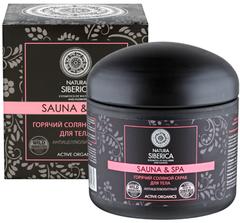 Горячий соляной антицеллюлитный скраб для тела Natura Siberica Sauna&SPA