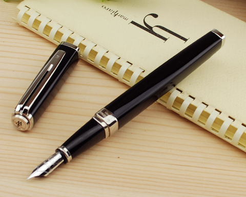 Перьевая ручка Waterman Exception, цвет: Slim Black ST, перо: F (FF)123