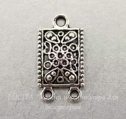 Коннектор (1-2) 24х12 мм (цвет - античное серебро)