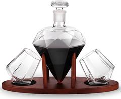 Набор для виски на подставке декантер «Бриллиант», 1000 мл/200 мл, фото 3
