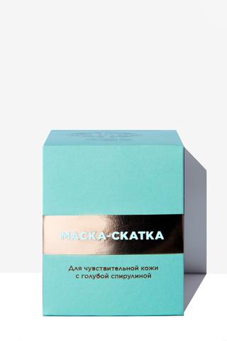 JS Маска-скатка д/лица с голубой спирулиной для чувствительной кожи 65мл