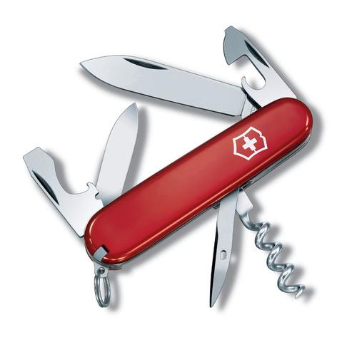 Нож перочинный VICTORINOX Tourist, 84 мм, 12 функций, красный VC-0.3603