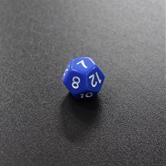 Синий двенадцатигранный кубик (d12) для ролевых и настольных игр