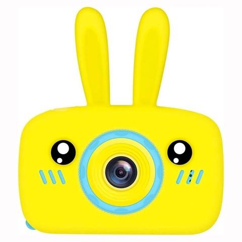 Детский фотоаппарат ZooKids Camera с силикон чехлом заяц желтый