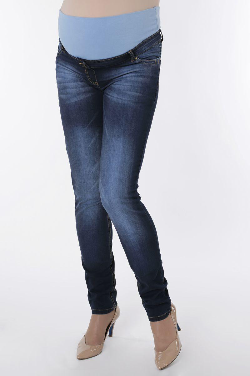 Фото джинсы для беременных (SLIM) MAMA`S FANTASY, средняя посадка, из стрейчевого денима, зауженные от магазина СкороМама, синий, размеры.