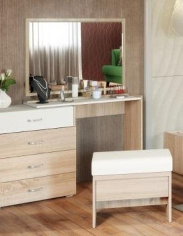Стол туалетный Линда 310 Моби дуб сонома/белый