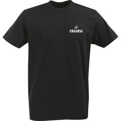 Футболка с однотонным принтом ISUZU (Исузу) черная 002
