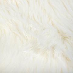 Шкура овечья искусственная, белая, 55*90 см